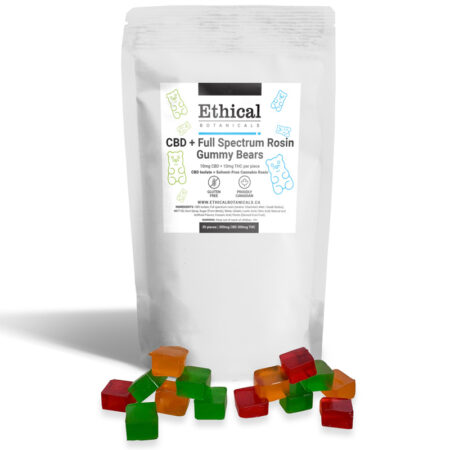 cbd + thc gummies by ethical botanicals, product image