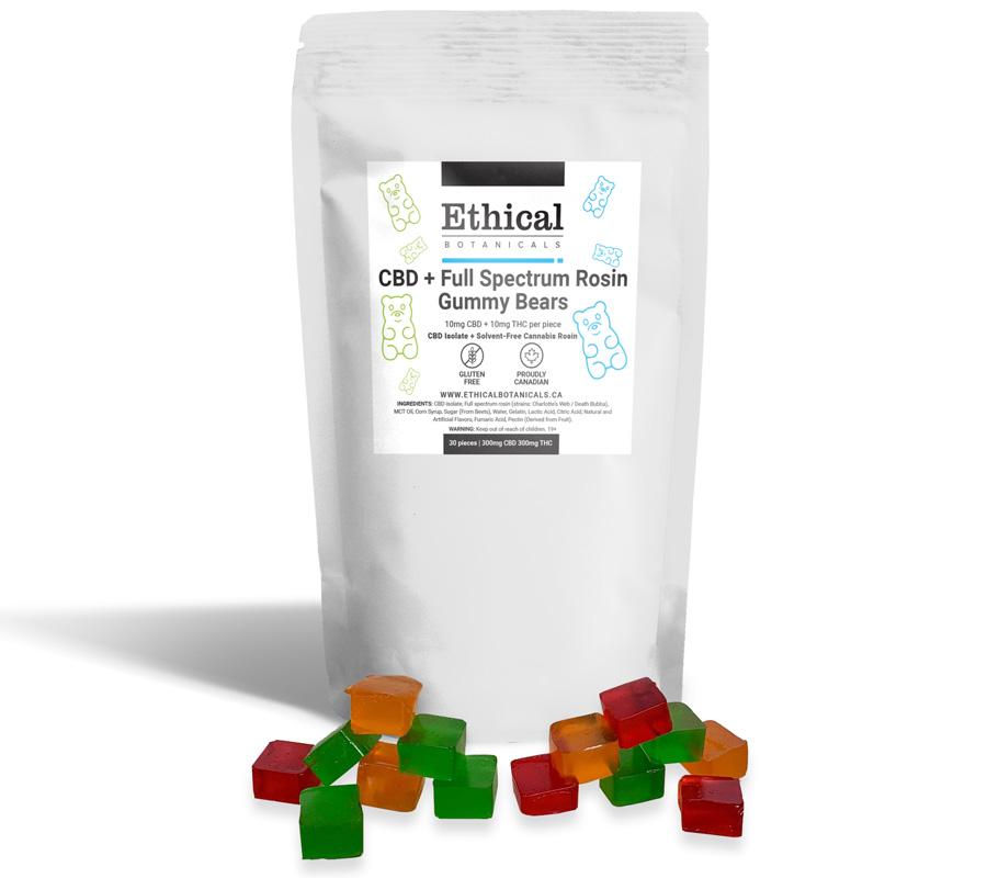 cbd + thc gummies by ethical botanicals, product image