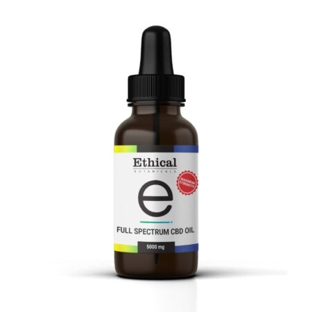 full spectrum cbd oil maximum strength 5000mg by ethical botanicals product image