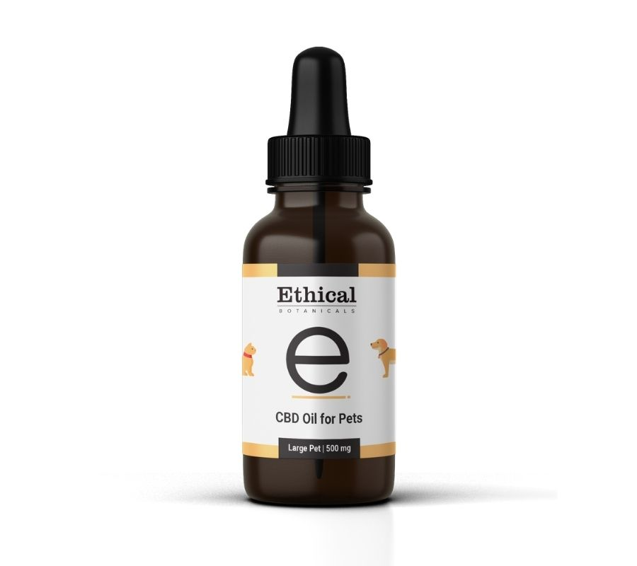 visualize bottle of cbd oil for pets large pet by ethical botanicals