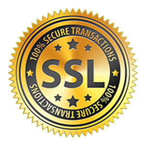 SSL 100% Secure transactions badge image