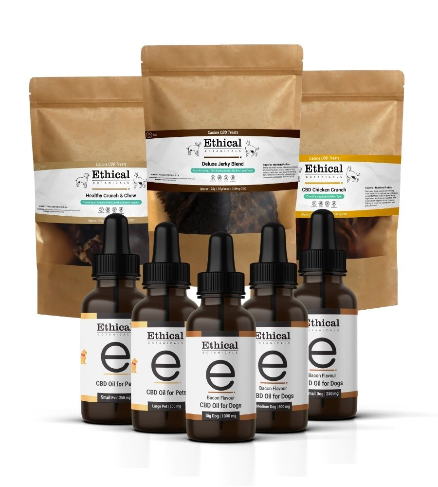 visualizes products included in Pet shop cbd starter kit